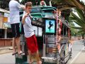 American Jeepney Conductor